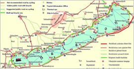 Kerékpáros térkép, útikönyv