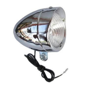 Első lámpa dinamós Retro króm-műanyag