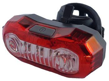 Hátsó lámpa villogó USB Velotech PRO 100 lumen