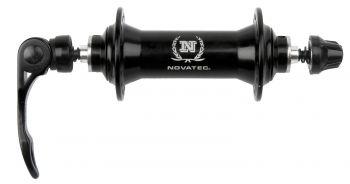 Első agy Novatec 32H 100 mm alu QR, matt fekete