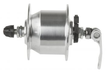 Agy első agydinamós 36H 6v/3W 100mm QR ezüst