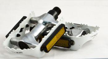 Pedál 9/16 MTB alumínium-acél, fehér keret