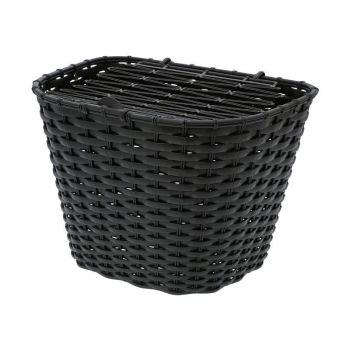 Kosár első fedeles műanyag, fekete