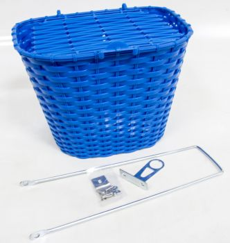 Kosár első fedeles műanyag, kék