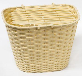 Kosár első fedeles műanyag, krém