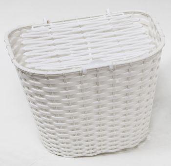 Kosár első fedeles műanyag, fehér
