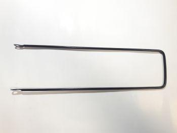 Kosárhoz tartópálca 380/5.8 mm, fekete