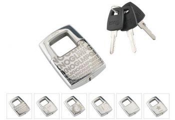 Lakat kulcsos Knog Number 1, rozsdamentes