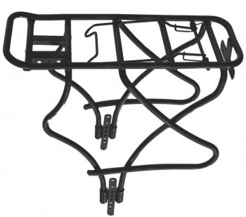 Csomagtartó 26-28 col alu cső, fekete