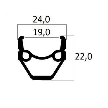 Felni 26x1,75 alu Beretta 36H tárcsafékhez, fekete