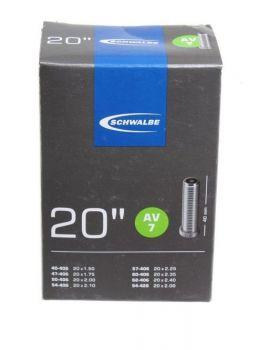 Belső gumi 20x1.50-2.00 406-40/62 AV 7 Schwalbe
