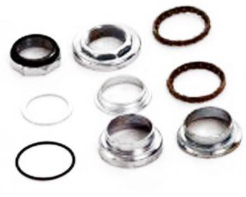 Kormányfej készlet 1 1/8 menetes, 25,4-34-30 mm, fekete