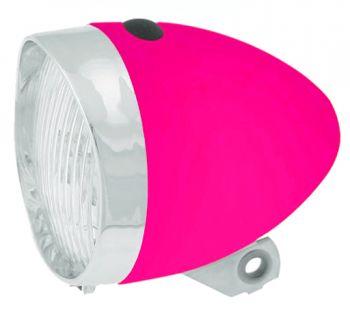 Első lámpa elemes 3 LED klasszik retro, rózsaszín