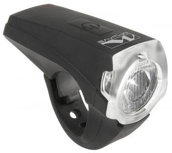 Első lámpa USB 1 LED, 25 lux szilikon M-Wave