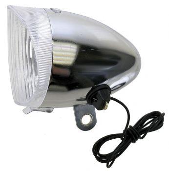 Első lámpa 6V/2,4W acél retro
