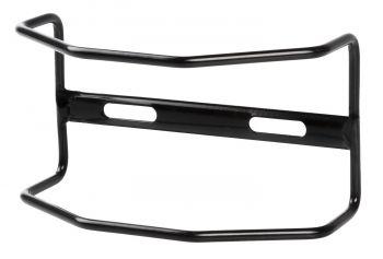 Lámpavédő hátsó csomagtartóra acél, fekete