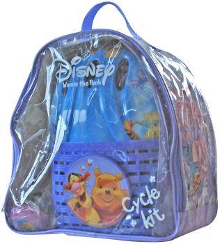 Gyerek bringás szett Micimackó táska-kosár-csengő-sisak