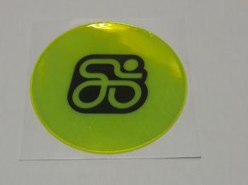 Fényvisszaverő matrica neon, kör alakú