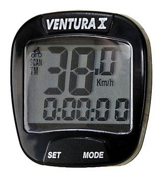Kilométeróra Ventura 10 funkciós, fekete