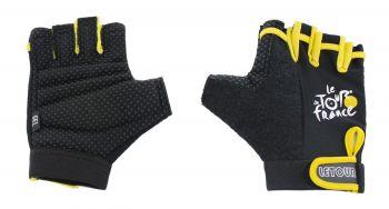 Kesztyű rövid ujjú Tour de France géles M, fekete