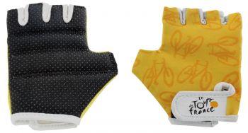 Kesztyű Tour de France kesztyű rövid ujjú M, sárga