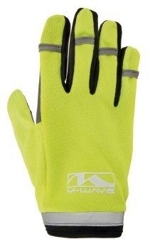 Hosszú ujjú kesztyű zselés M-Wave, neonsárga XL