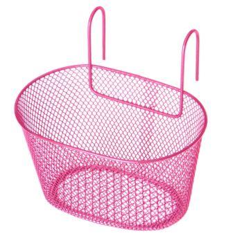 Kosár első gyerekbiciklire rózsaszín