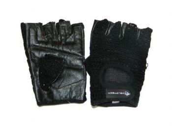 Kesztyű felnőtt szőttes rövid ujjú fekete M