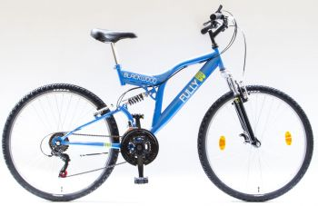 Schwinn Csepel Blackwood Fully 26-os össztelós MTB kerékpár, zöld-fekete