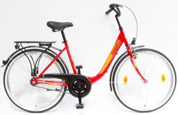 Schwinn Csepel Budapest B 26 kontrás női kerékpár Piros