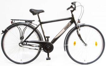 Schwinn Csepel Budapest 28-as agyváltós férfi kerékpár Fekete