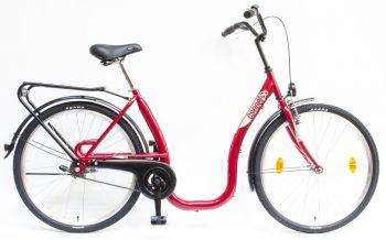 Schwinn Csepel Budapest C kontrás alacsony vázas kerékpár, Piros