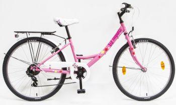 Schwinn Csepel Flora 24 col 6 sebességes kerékpár Rózsaszín