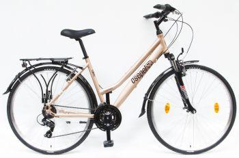 Schwinn Csepel Traction 100 női túra trekking kerékpár Matt Barna