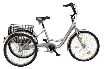 Biketek Gommer háromkerekű tricikli felnőtteknek, ezüst